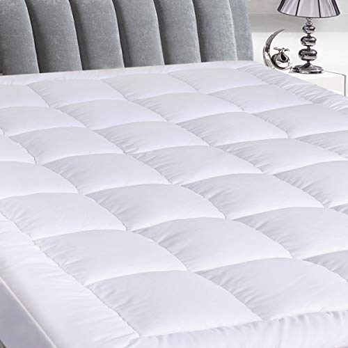"""Cosylifee Queen Mattress Pad Cover Thick Quilted Mattress Topper Cooling Mattress Protector Overfilled Cotton Top Pillow Top with Snow Down Alternative Fill (8-21""""Fitted Deep Pocket) ()"""