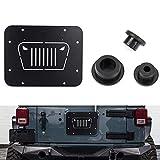 jeep wrangler rubicon spare tire - Fits Jeep Wrangler Spare Tire Delete Plate & Tailgate Body Plugs for JK JKU 2007 to 2017