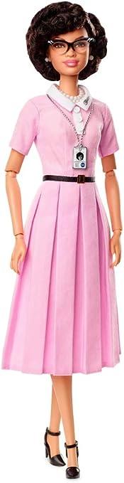 NEW Barbie Inspiring Women Katherine Johnson Doll NASA ID Badge ~ Necklace