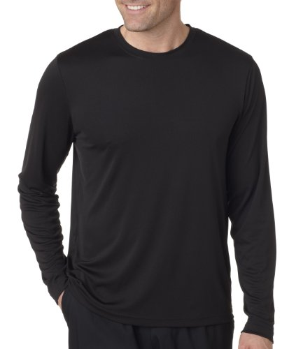 Hanes Cool DRI'Performance mens Long-Sleeve T-Shirt,Black,Medium ()