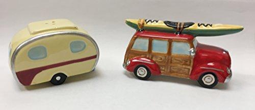 (RV Camper Woody Kayak Salt & Pepper Shaker S/P)
