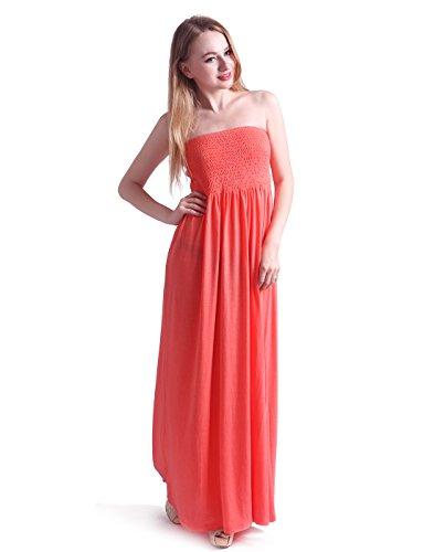 HDE Women\'s Strapless Maxi Dress Plus Size Tube Top Long Skirt ...