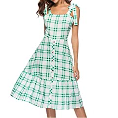 ◆◆Wear this dress when you are seeking to show your softer and more feminine side. You will look like a sweet body doll in this cute dress. It has a slight rounded neckline. The body of the dress has a loose cut which moves with you and each ...