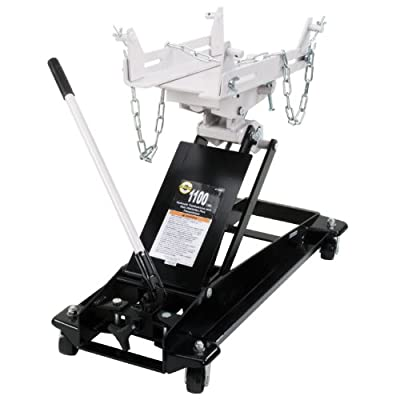 Omega 41100C Black Low Profile Hydraulic Transmission Jack - 1100 lb. Capacity