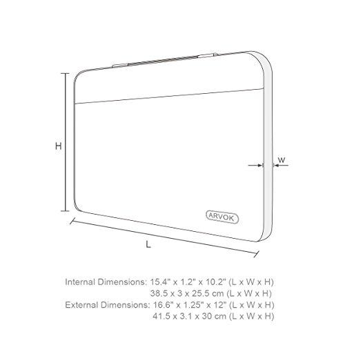 Amazoncom Arvok 15 156 Inch Water Resistant Canvas Fabric Laptop