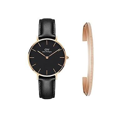 Daniel Wellington Women's DW00500005 Gift Set Classic Petite Sheffield with Rose Gold Classic Cuff Watch