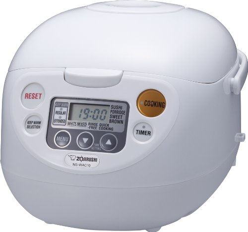 Zojirushi NS-WAC10-WD 5.5-Cup (Uncooked) Micom Rice Cooker and -