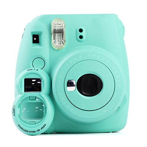 YJYdada Color Close-up Lens Selfie Mirror For Fujifilm Instax Mini 9/8/8+/7s Camera New (Mint - Oakley Jawbone Green