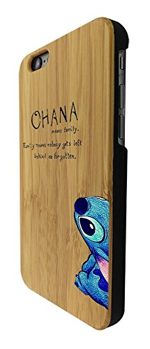 C0036 - Ohana Family Meaning Fun Cool Design iphone 6 6S 4.7'' Natural Holz Real Wood Hülle Case Cover