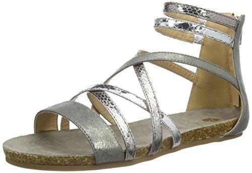 La Strada Silver Coloured Sandal - Sandalias Mujer Plateado - Silber (1442 - cracked silver)
