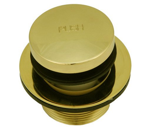 (Tip Toe Bath Tub Drain, Polished Brass PVD (Non-Fading) Finish - By Plumb USA)