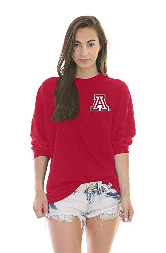 NCAA Arizona Wildcats Women's Jade Long Sleeve Football Jersey, Red, X-Large