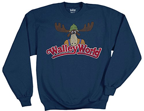 Ripple Junction National Lampoon's Vacation Wally World Logo Adult Crewneck Fleece 3XL Navy