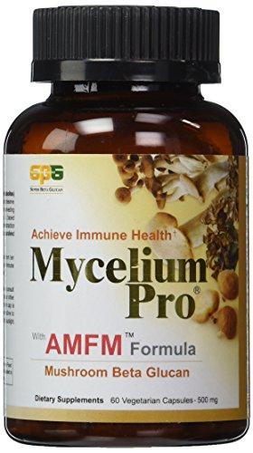 (Mycelium Pro Ultimate Immune AMFM (Multi-species Mushroom Beta Glucan Extract) 60 Veggie Caps, 500 mg - New Packaging)