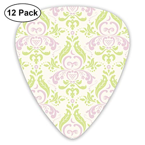- Damask Owl Small Medium Large 0.46 0.73 0.96mm Mini Flex Assortment Plastic Top Classic Rock Electric Acoustic Guitar Pick Accessories Variety Pack