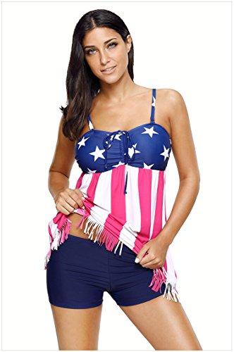 Pezzi Donne Le Stripes Bikini Da Decorazioni Sexy Bagno Regolabili Per Bassa A Due Costumi Stringhe Go Shopping Con Star Vita Easy Tankini Pantalone wq0YBUx