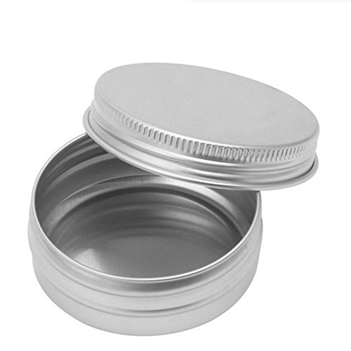 100g Tin (Outstanding 2pcs Aluminum Cosmetic Jar Tin Empty Cosmetic Sample Pots Balm Container)