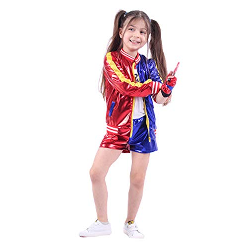 Suicide Squad Harley Quinn T-Shirt Short Pants & Jacket Cosplay Costume Set (5-7 Years)