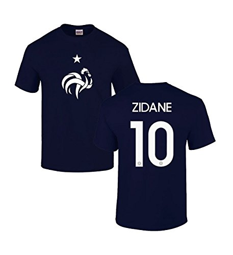 Gildan Men's France National Team EURO Cup 2016 Zinedine Zidane 10 Cotton T Shirt Medium