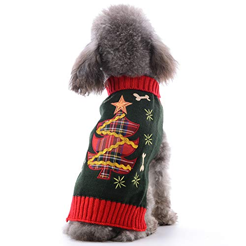 DOGGYZSTYLE Dog Christmas Sweater Xmas Pet Clothes Cute Snowman Reindeer Holiday Puppy Cat Costume New Year Gift for…