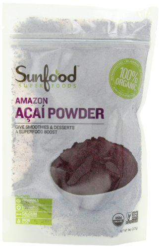 Sunfood Acai Powder, Certified Organic, Non-GMO, Raw, 8oz