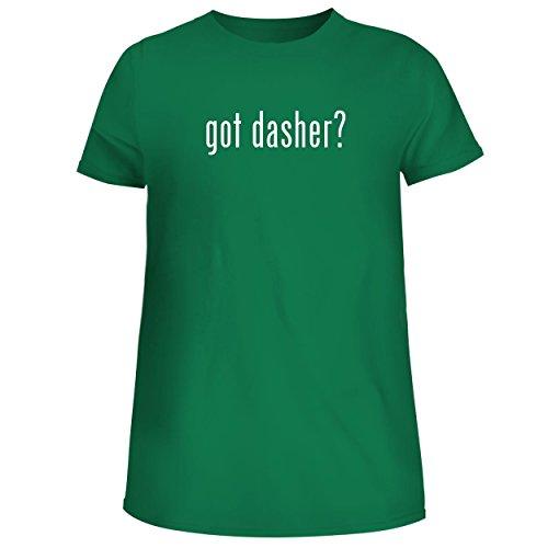 Reindeer Spun Glass (BH Cool Designs got Dasher? - Cute Women's Junior Graphic Tee, Green, X-Large)