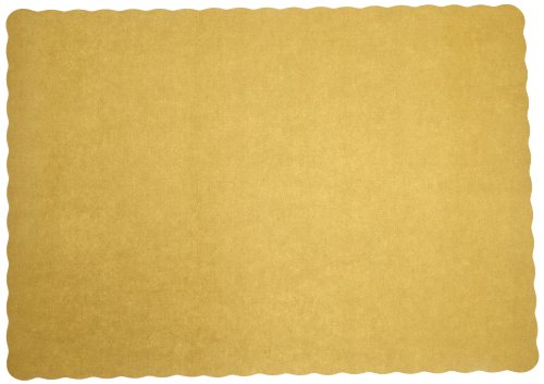 Glittering Gold Paper - Hoffmaster 310560 Paper Placemat, 13-1/2