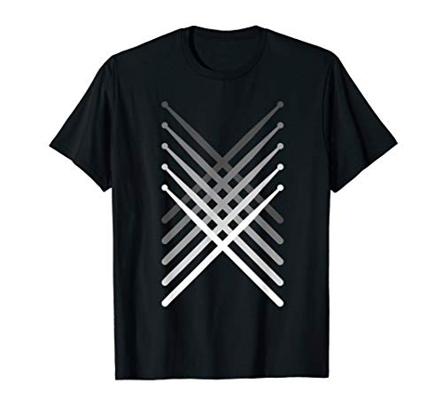 (Percussion Drum sticks Black T-Shirt)