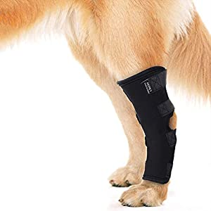 Luwint Dog Rear Leg Braces – Elastic Canine Arthritis Ankle Protection Knee Compression Sleeves Hind Hock Joint Warps… Click on image for further info.