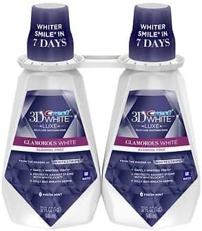 Crest 3D White Luxe Glamorous White Mouthwash, 2 pk./32 oz. AS