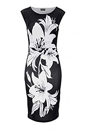 schwarz-hellgrau Bruno Banani Damen Marken-Kleid