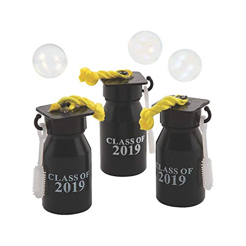 Tassel Bubble - Fun Express Class of 2019 Graduation Bubble Bottles Party Favors - 12 Pieces