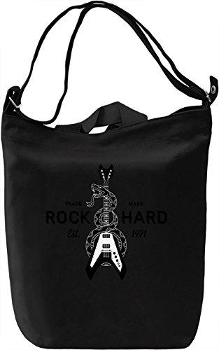 Rock hard Borsa Giornaliera Canvas Canvas Day Bag| 100% Premium Cotton Canvas| DTG Printing|