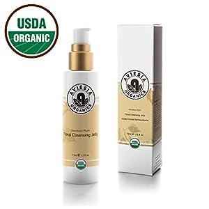 Aviesia Organics Facial Cleanser - 100% USDA Certified - Organic Davidson Plum Face Wash Cleansing Jelly Skin Care - Natural Skincare 75ml / 2.5oz (75ml / 2.5 fl oz)