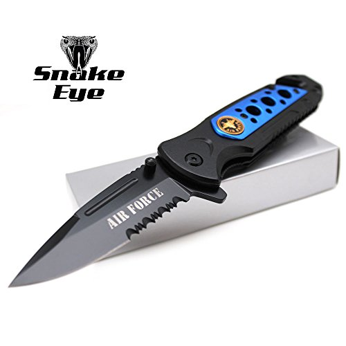 - Snake Eye Tactical Rescue Style Action Assisted Folding Knife 4.5