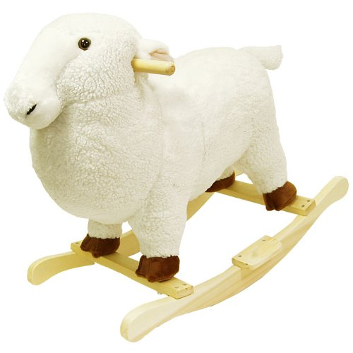 Happy Trails Lamb Plush Rocking Animal