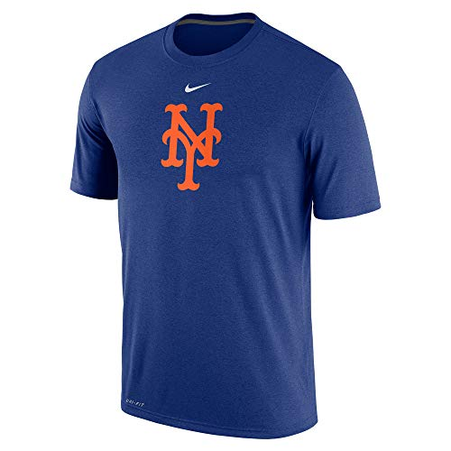 Nike Men's MLB New York Mets Logo SS T Shirt Royal Size Medium Black