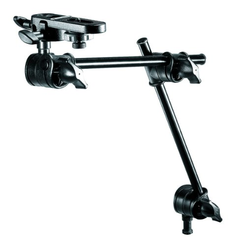 Boom Arm Tripod - Manfrotto 196B-2 143BKT 2-Section Single Articulated Arm with Camera Bracket (Black)
