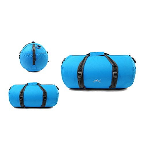 Aosbos Mochila Bandolera para Deporte Bolsa Plegable y Ligera para Gimnasio Viaje 45L (rosa) azul