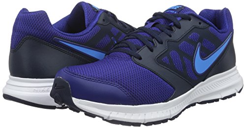 NIKE Downshifter 6 Mens Blue Mesh Athletic Lace Up Running Shoes 8.5 Tl78c