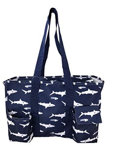 (April Fashions pattern zip top multi function organizing Utility bag, Diaper bag, all purpose Organizer tote bag. (NT19-S) )