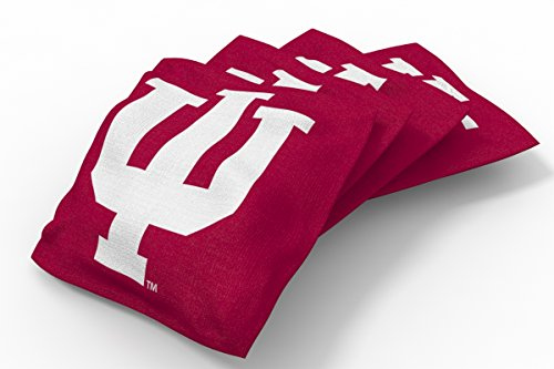 Wild Sports NCAA College Indiana Hoosiers Red Authentic Cornhole Bean Bag Set (4 Pack) ()