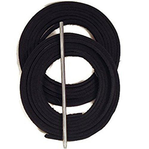 Baseball Glove Lacing Kit Black , Lacing Guide, 2 Leather Laces 72 Inches Long, 1 Leather Lacing Needle, Softball Glove Lace. ()