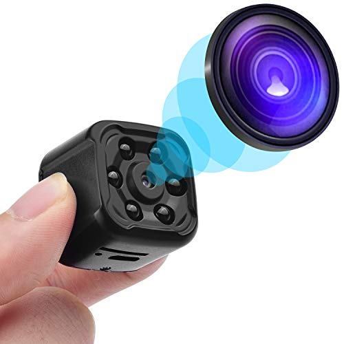 - Mini Spy Hidden Camera, OUMEIOU 1080P Portable HD Spy Camera Nanny Camera Cop Cam Car Camera with Night Vision,Perfect Indoor Covert Security Camera for Home,Car,Drone and Office