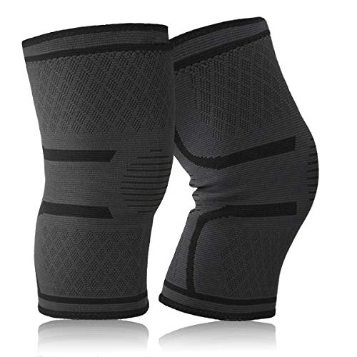 Slimerence Knee Sleeve, Knee Brace Compression Support for Sports, Running, Jogging, Basketball, Joint Pain Relief and Meniscus Tear Injury Recovery More Fits Men and Women Black L