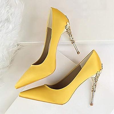 HKAOLBJ High heels 10cm High Heel Ladies Pointed Shoes
