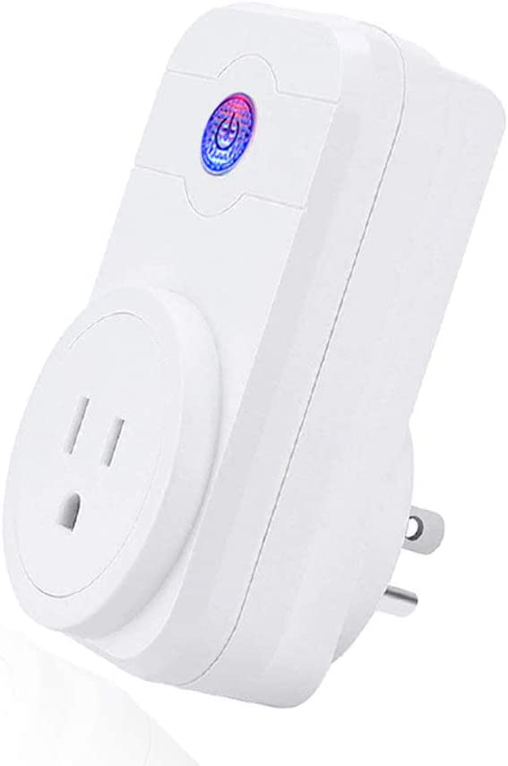LINGANZH,Wi-Fi Smart Plug Timing Switch Power Monitoring Remote Control Socket Wireless Outlet,Compatible with Alexa