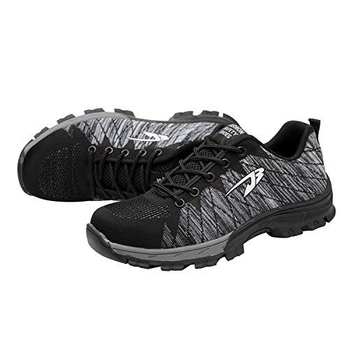 Optimal Grey Men's Shoes Steel Safety Toe Shoes Work Shoes xp7x4q
