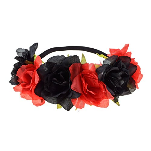 Floral Fall Rose Holiday Crown Festival Headbands Hippie