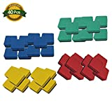 40 PCS Magnetic Whiteboard Eraser Magnetic Dry Erasers Bulk Chalkboard Cleansers Wiper for Kids Home School and Office